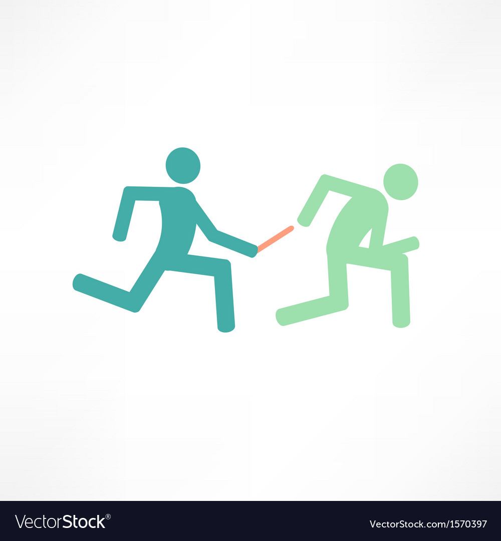 Relay runners vector | Price: 1 Credit (USD $1)