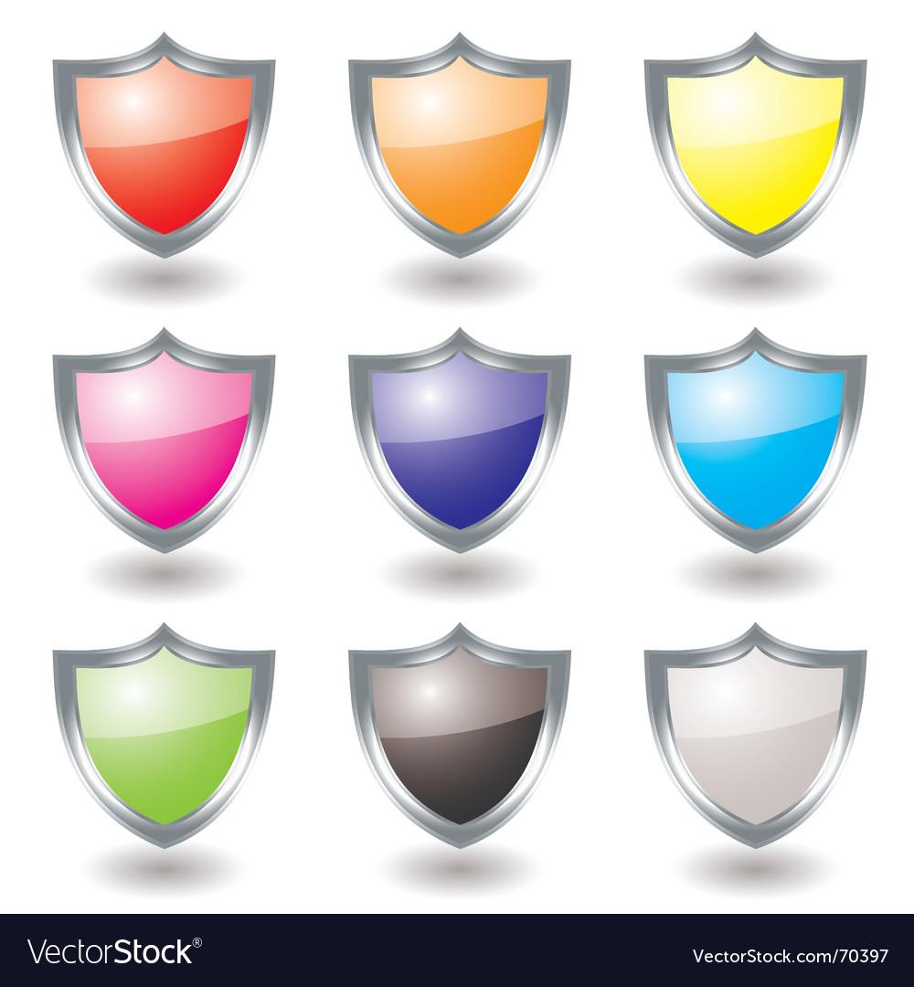Silver shield variation vector | Price: 1 Credit (USD $1)