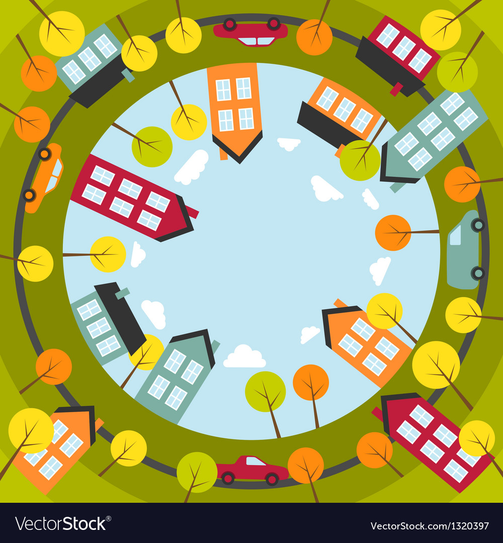Small spherical town vector | Price: 1 Credit (USD $1)