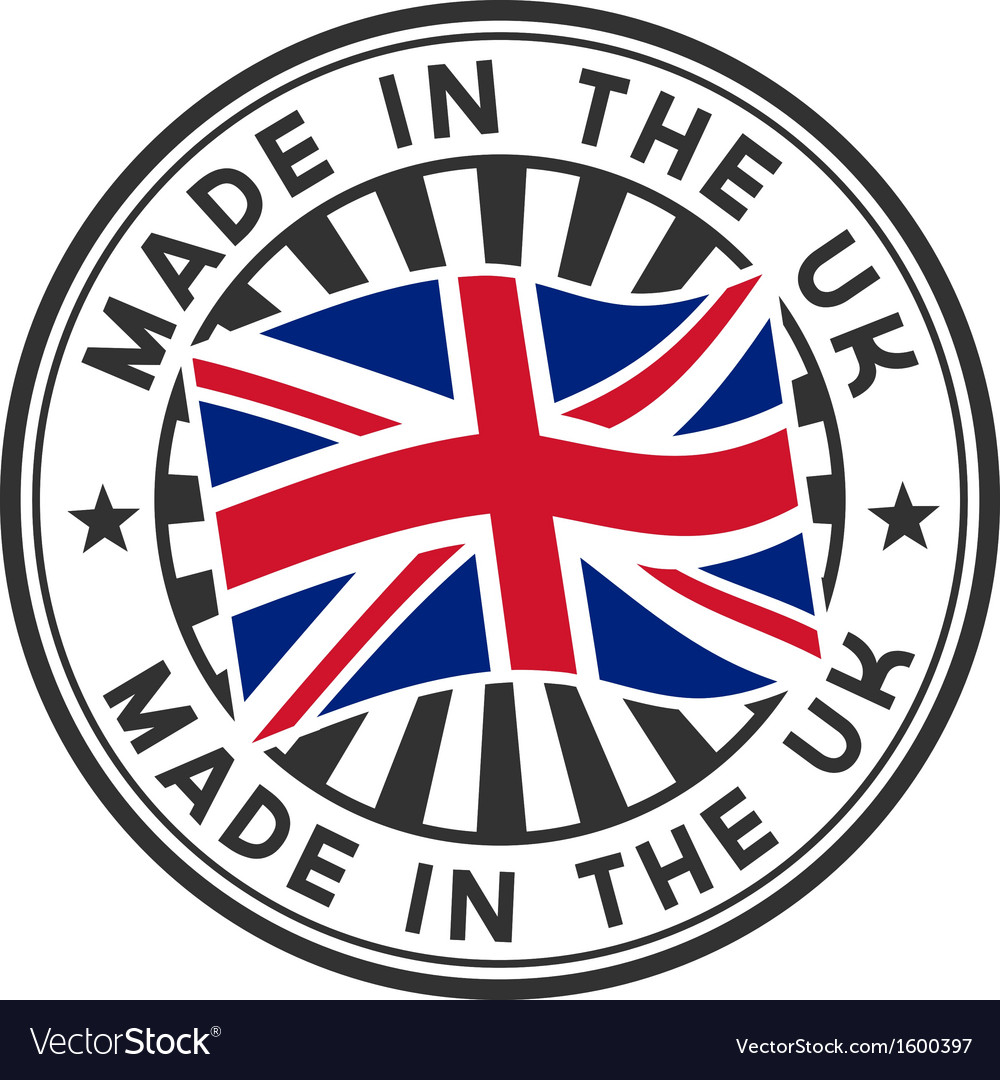 Stamp with flag of the uk made in the uk vector | Price: 1 Credit (USD $1)