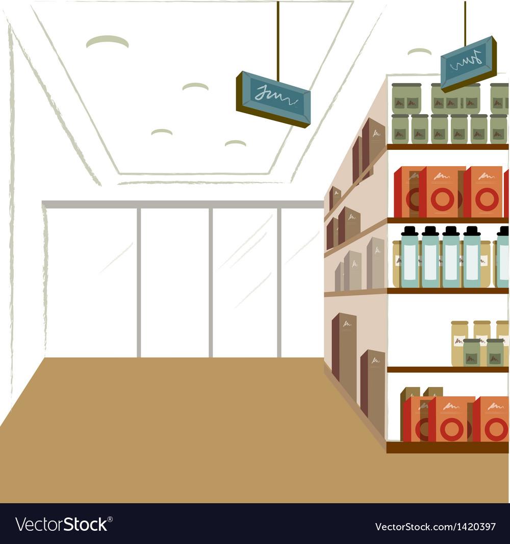 Supermarket interior background vector | Price: 1 Credit (USD $1)