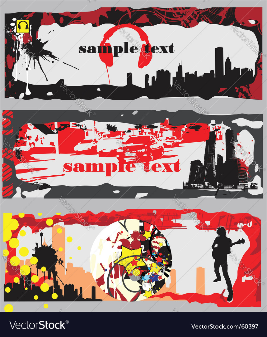 Urban banners vector | Price: 1 Credit (USD $1)