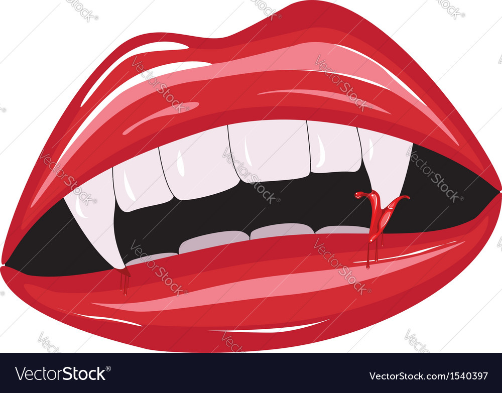 Vampire mouth2 vector | Price: 1 Credit (USD $1)