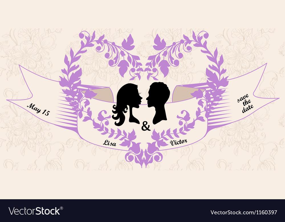 Wedding vintage invitation vector | Price: 1 Credit (USD $1)