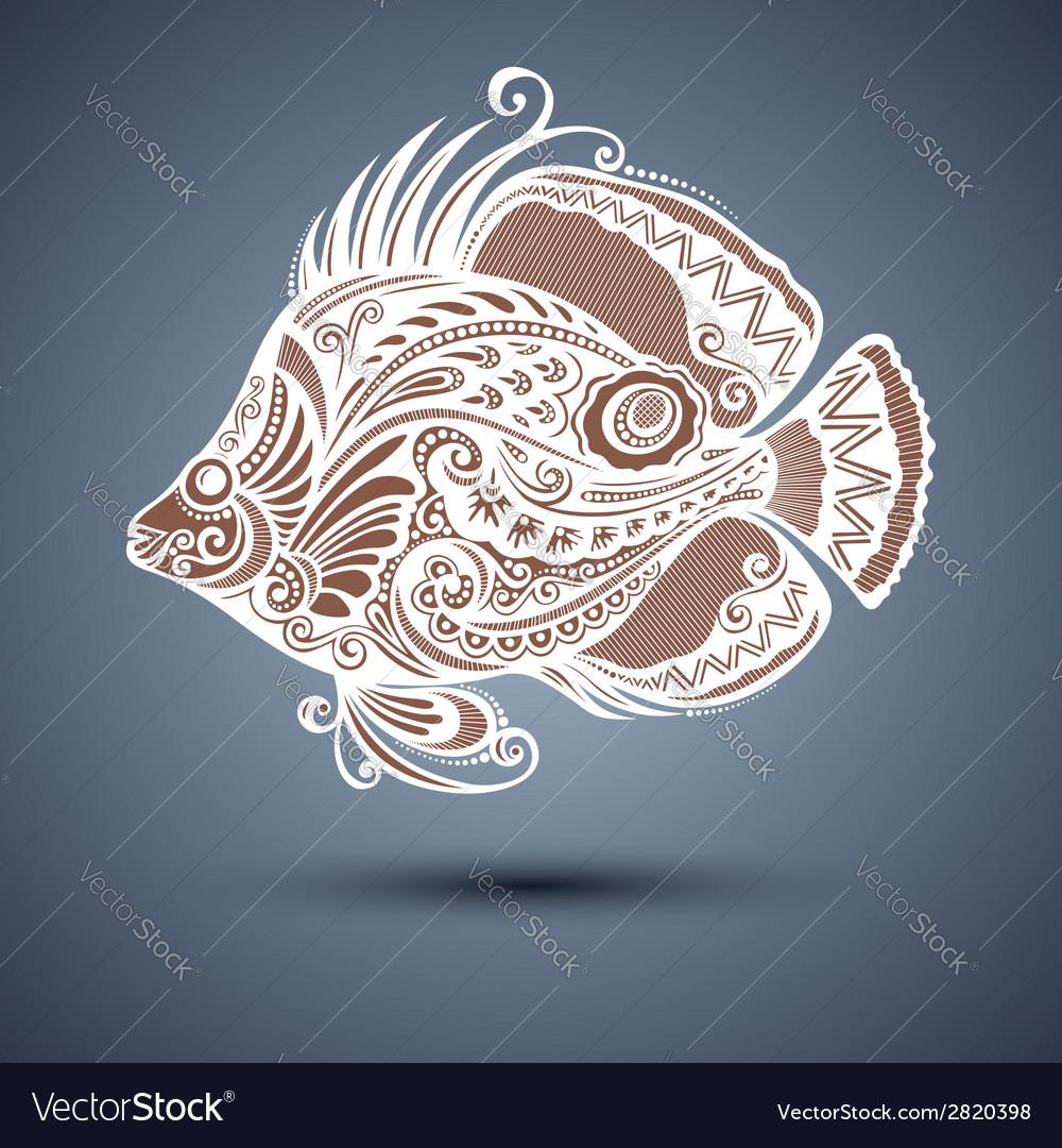 Abstract sea fish vector   Price: 1 Credit (USD $1)