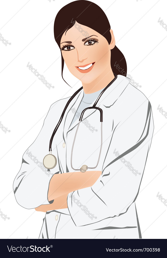 Beautiful young doctor vector | Price: 1 Credit (USD $1)