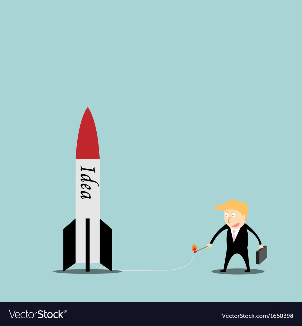 Businessmen are missiles ideas vector | Price: 1 Credit (USD $1)