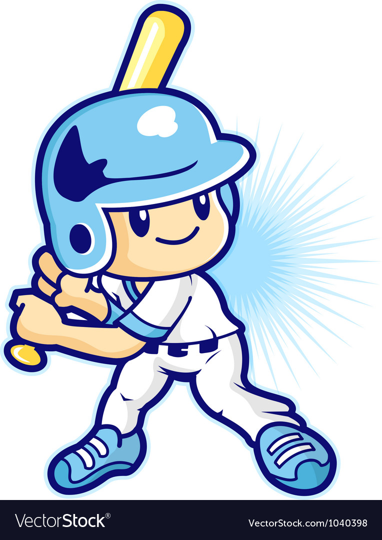 Cartoon baseball player vector | Price: 1 Credit (USD $1)