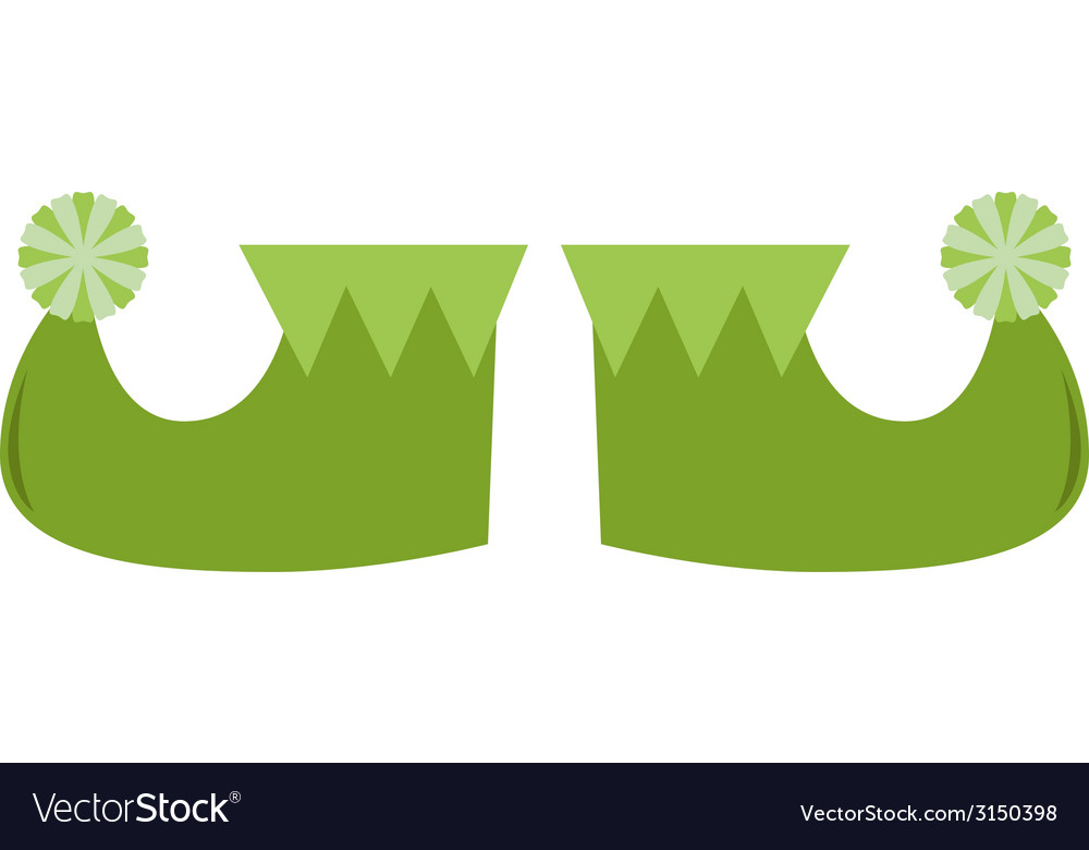 Cute stylized st patricks legs isolated on white vector