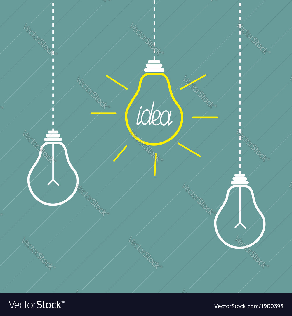 Hanging three lamps vector | Price: 1 Credit (USD $1)