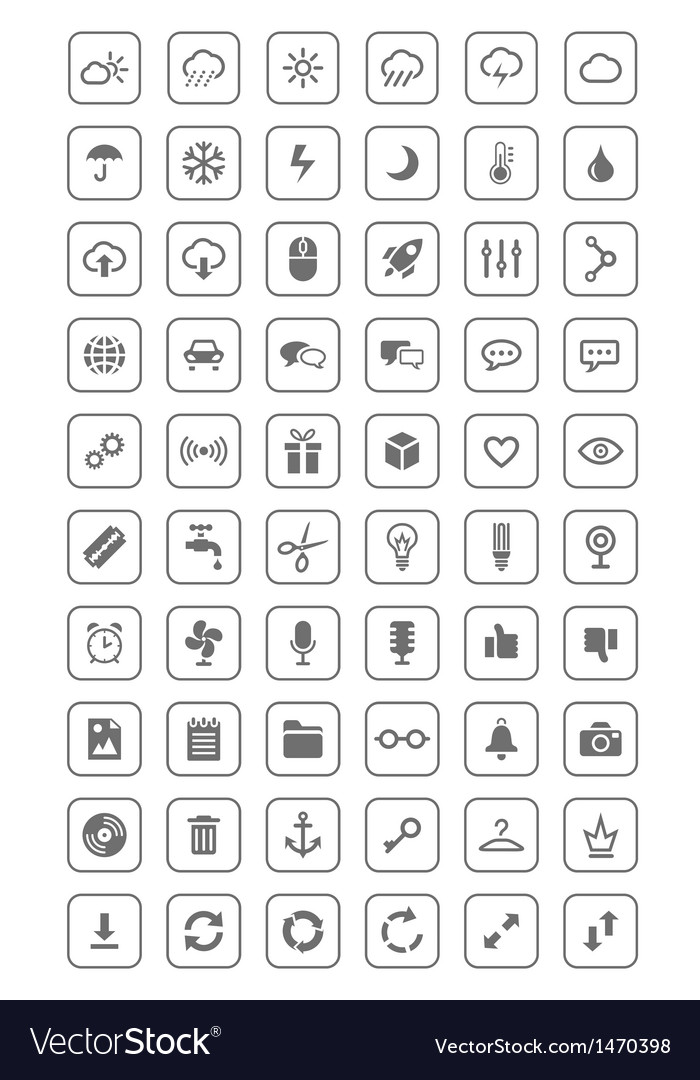 Icons and pictograms set vector | Price: 3 Credit (USD $3)