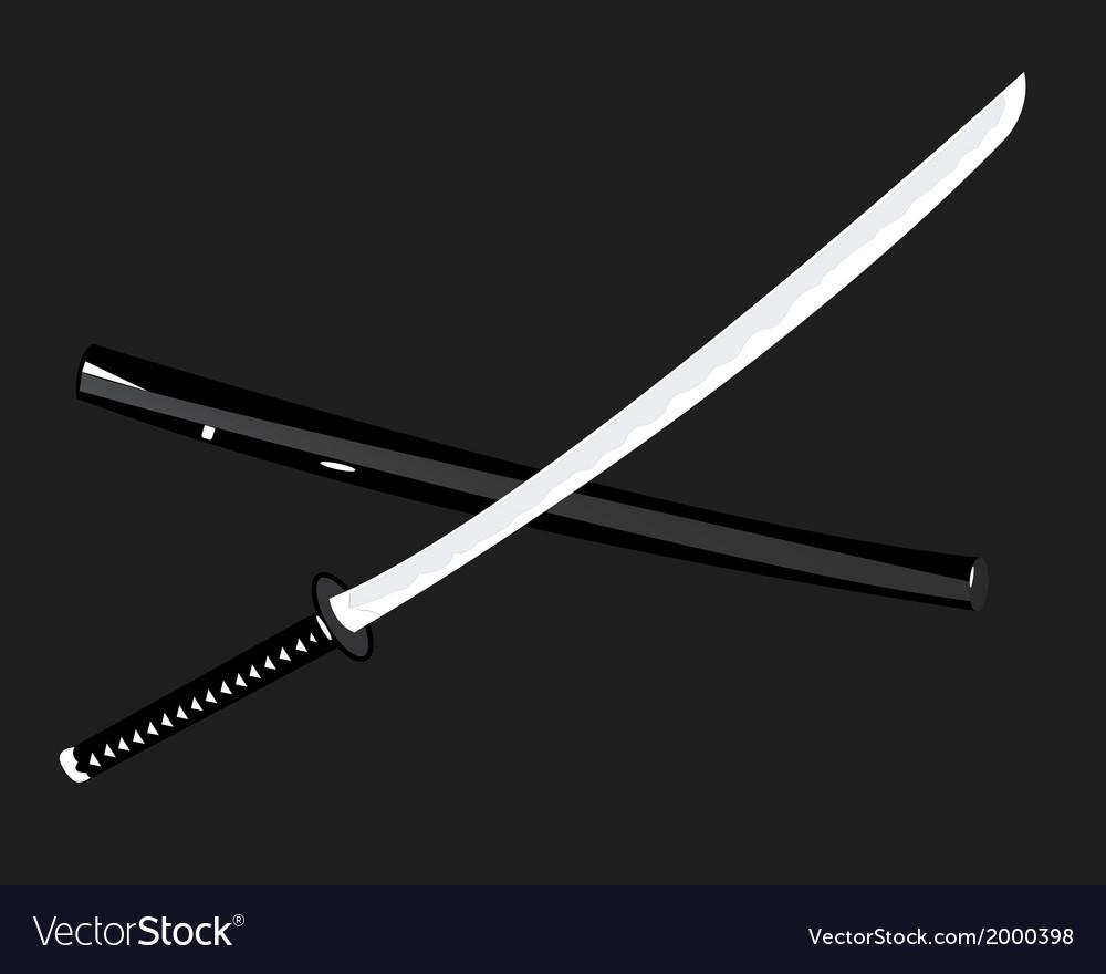 Japanese katana vector | Price: 1 Credit (USD $1)