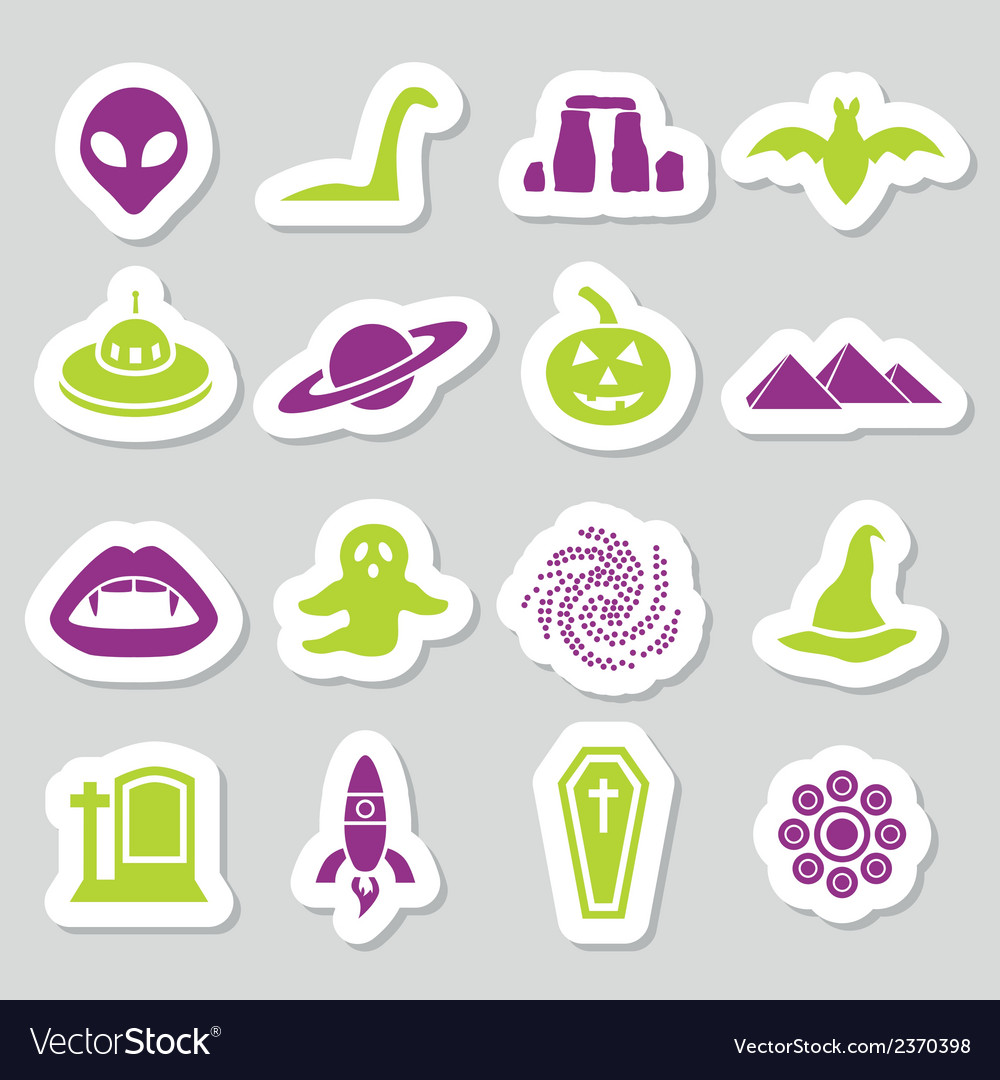 Mystic stickers vector | Price: 1 Credit (USD $1)