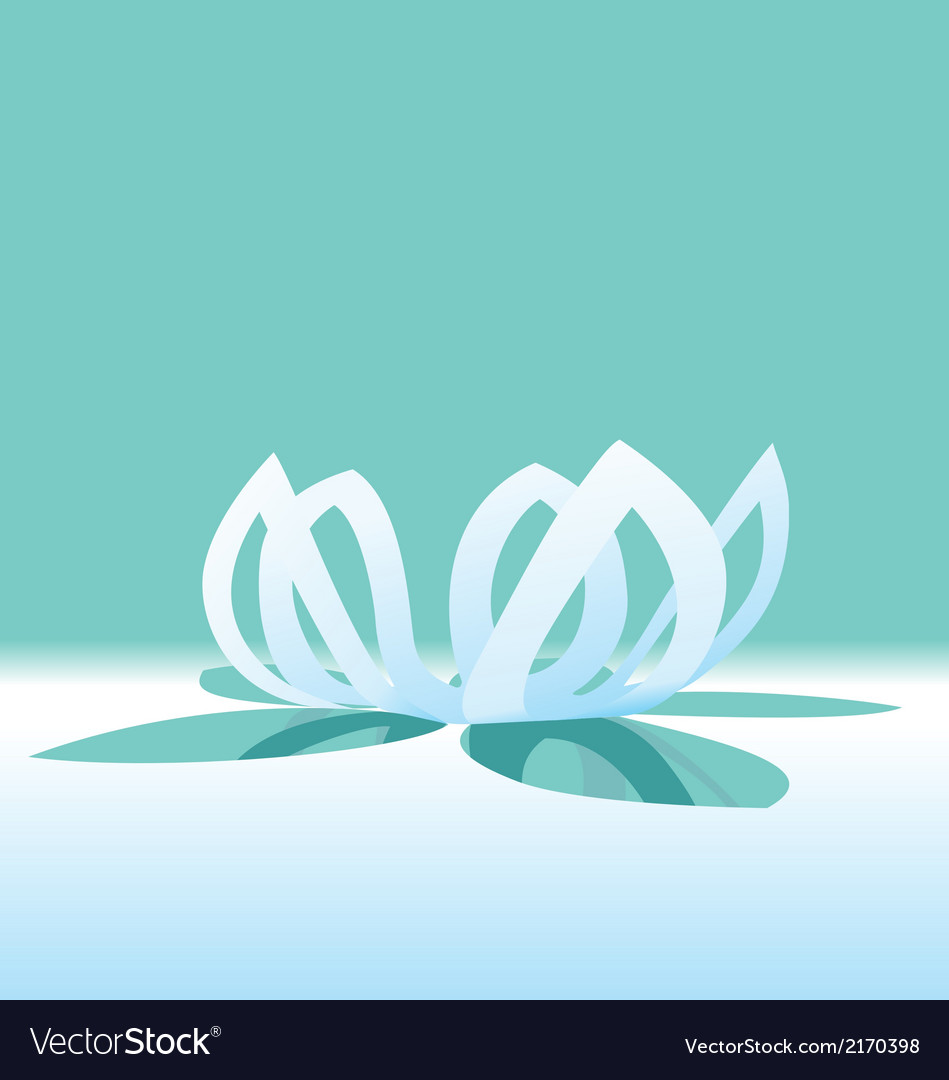 Origami lotus flower vector | Price: 1 Credit (USD $1)
