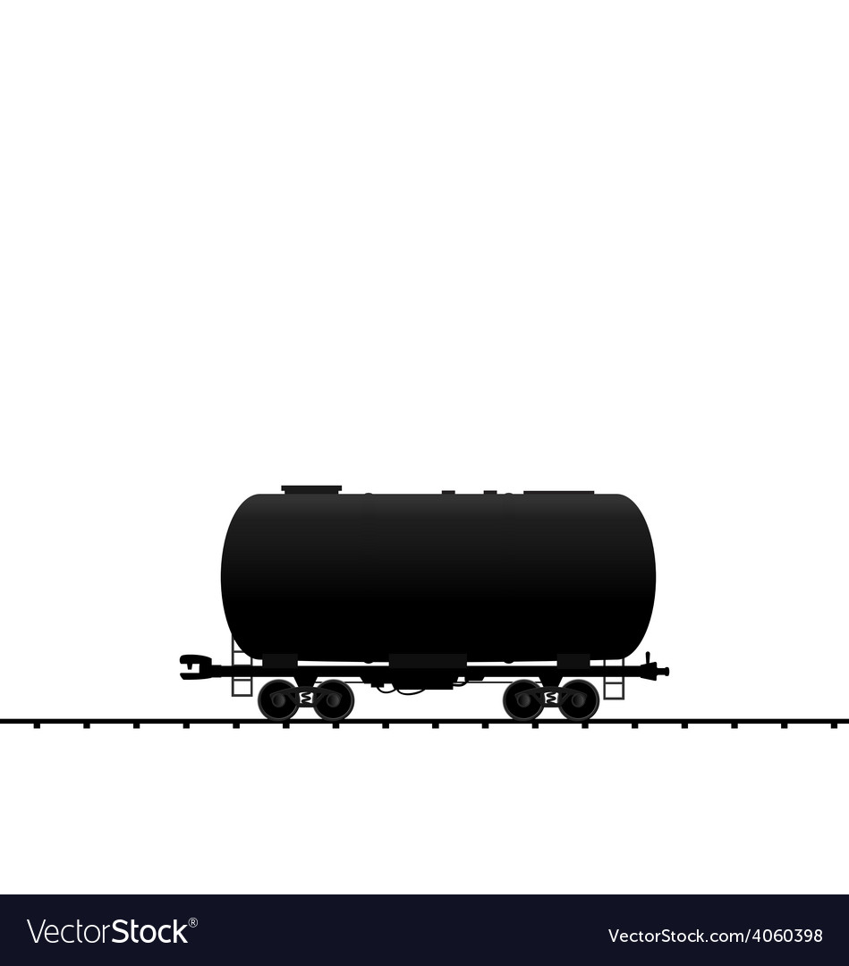 Petroleum cistern wagon freight railroad train bla vector | Price: 1 Credit (USD $1)