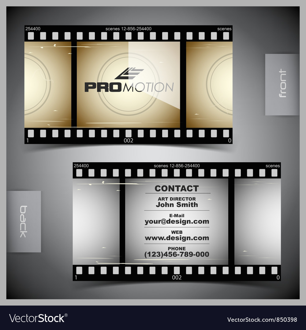 Set of creative business cards film vector | Price: 1 Credit (USD $1)