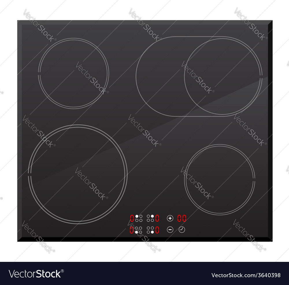 Surface for electric stove 02 vector | Price: 1 Credit (USD $1)