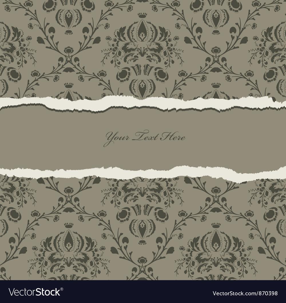 Torn damask wallpaper vector | Price: 1 Credit (USD $1)