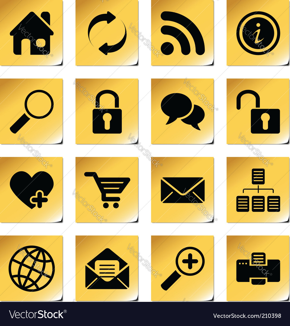 Website and internet icons vector   Price: 1 Credit (USD $1)