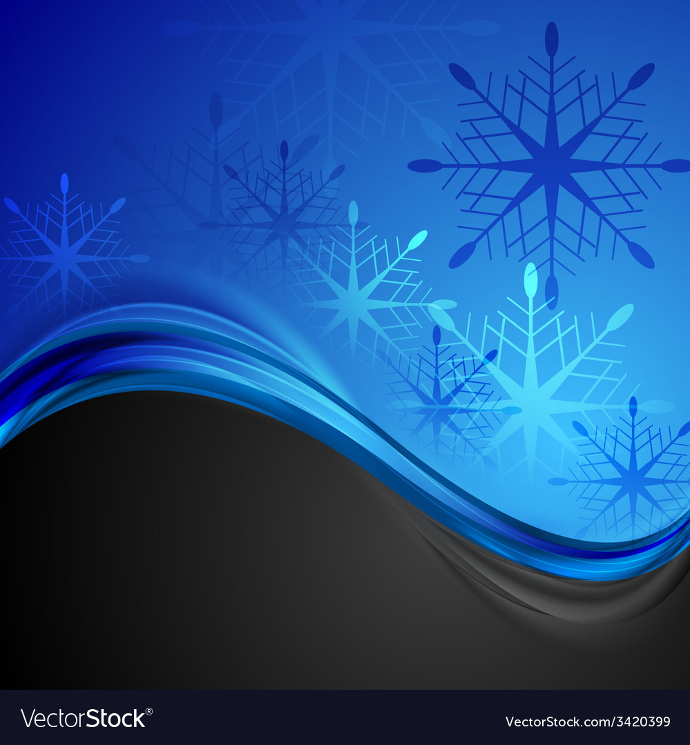 Abstract dark blue wavy christmas background vector | Price: 1 Credit (USD $1)