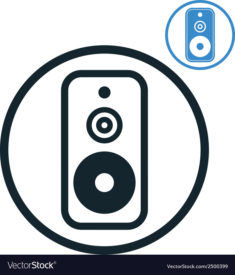 Audio speaker icon isolated vector | Price: 1 Credit (USD $1)