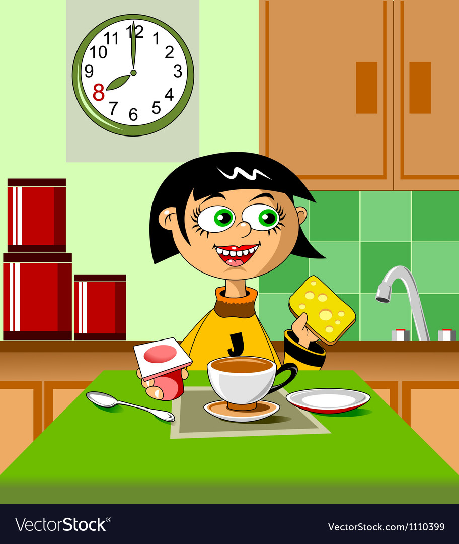 First breakfast vector | Price: 1 Credit (USD $1)