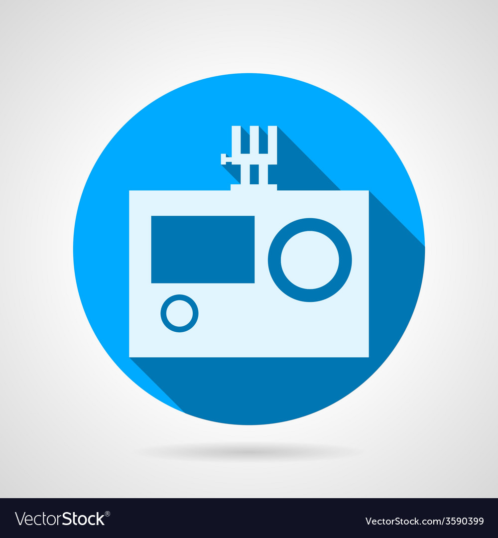 Flat icon for action camera vector | Price: 1 Credit (USD $1)