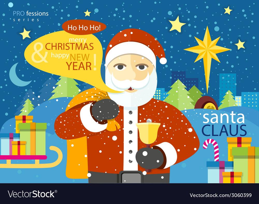 Happy santa claus profession series vector | Price: 1 Credit (USD $1)