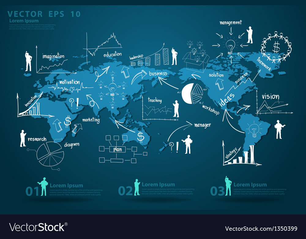Modern global business economy vector | Price: 3 Credit (USD $3)