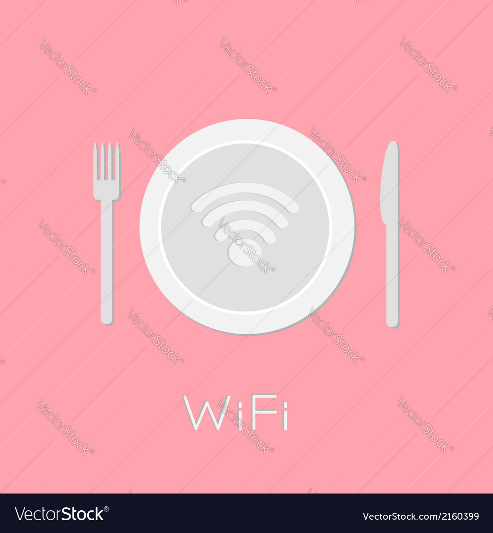 Plate with wireless network wifi icon inside pink vector | Price: 1 Credit (USD $1)