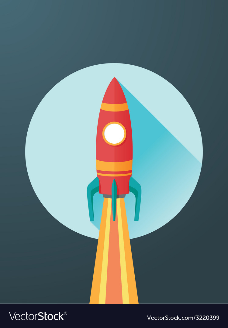 Rocket launch vector | Price: 1 Credit (USD $1)
