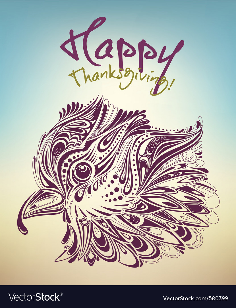 Thanksgiving bird vector | Price: 1 Credit (USD $1)