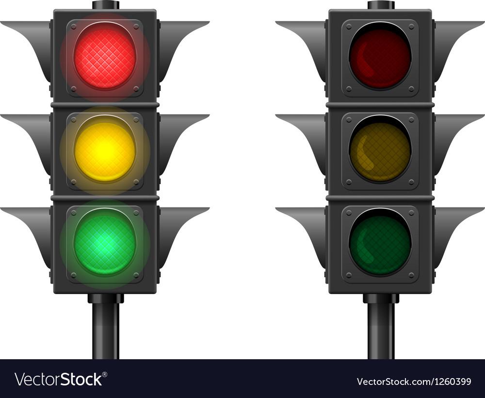 Traffic lights vector | Price: 3 Credit (USD $3)