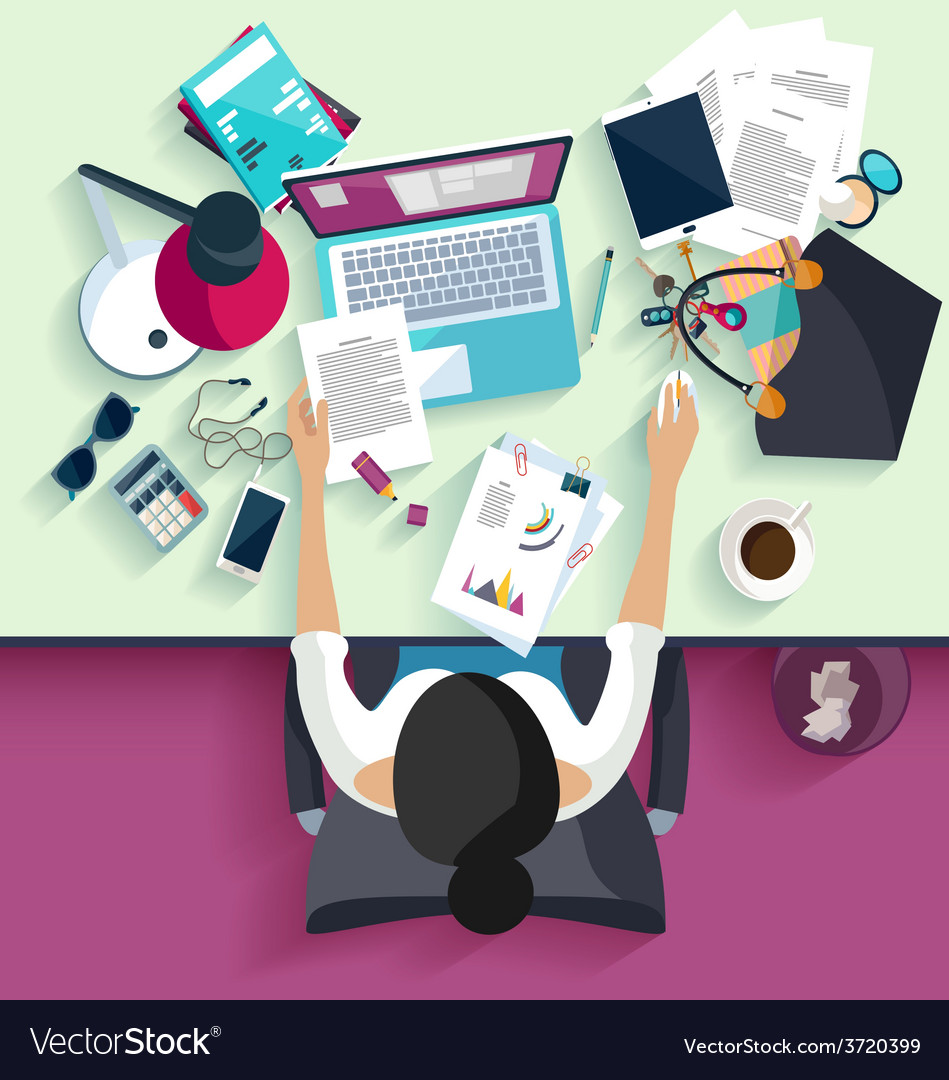 Workplace concept vector   Price: 1 Credit (USD $1)