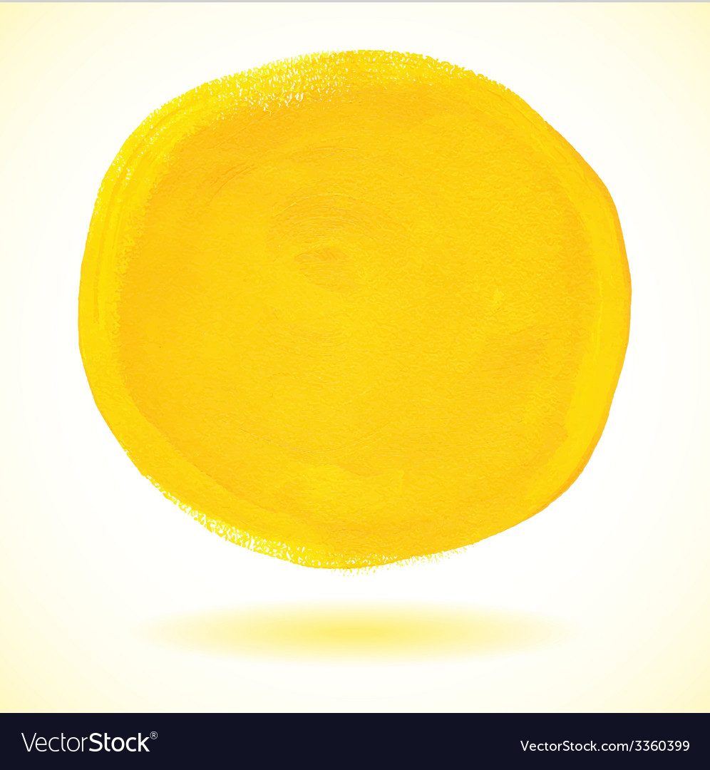 Yellow acrylic paint circle vector | Price: 1 Credit (USD $1)