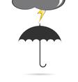 Umbrella with lightning vector