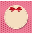 Vintage frame with bow background vector