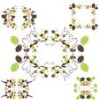 Leaves frame - set vector