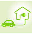 Eco car make a home icon vector