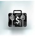 Briefcase icon flat design vector