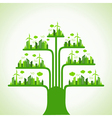 Eco cityscape make a tree vector