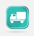Truck logistic icon color square icon vector