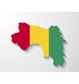 Guinea country map with shadow effect presentatio vector