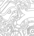 Seamless pattern of gears vector