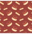 Cute cartoon seamless pattern with birthday cakes vector