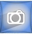 Camera flat modern web design on a flat geometric vector