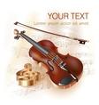 Classical violin vector