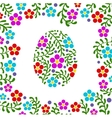Easter egg floral background vector