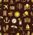 Summer seaside seamless background vector