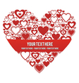 Heart with a banner vector